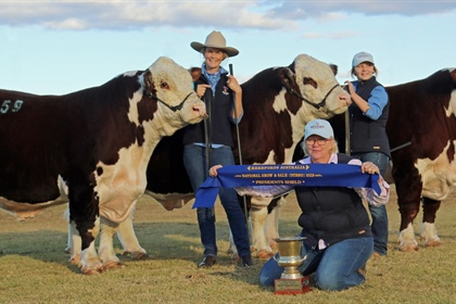 Results from the Hereford National Show and Sale...